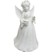 Porcelain Christmas Angel Lighted Table Display