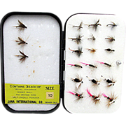 Wheatley Metal Fly Box with 25 Flies