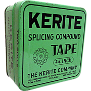 Kerite Splicing Tape Advertising Tin