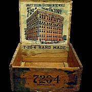 R. G. Sullivan Advertising Wood Cigar Box  7-20-4  10 Cent Cigars
