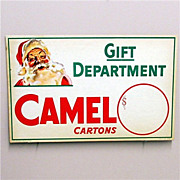 Christmas Store Display Advertising Sign For Camel Cigarettes MINT