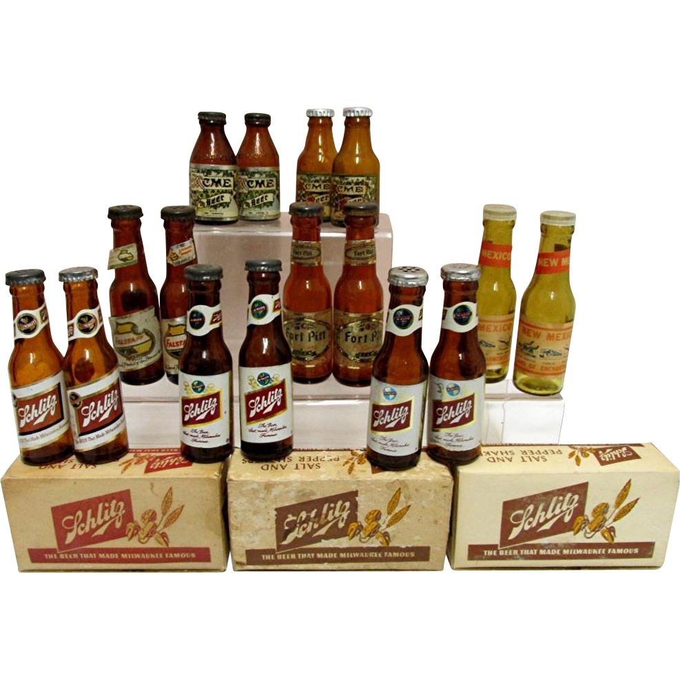 Miniature Beer Bottle Salt and Pepper Shakers $16 a set