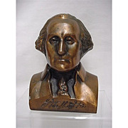 SOLD    See other banks for sale  Bank George Washington Bust  Cast Metal