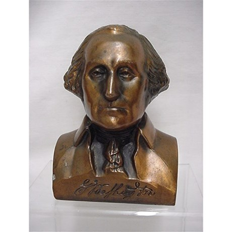 Bank George Washington Bust  Cast Metal