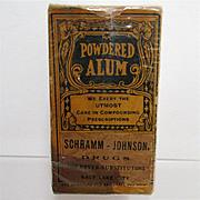 Pharmacy Advertising Item Alum Powder
