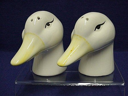 Salt and Pepper Set Duck Head Shakers