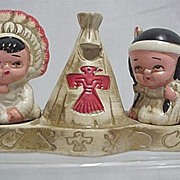 American Indian Salt and Pepper Shakers