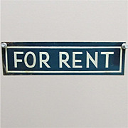 FOR RENT Antique Tin Sign