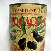 SOKD    Italian Flatbread Advertising Tin from Di Camillo Bakery  Niagara Falls NY