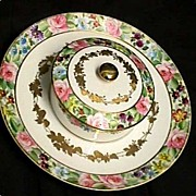 Cheese and Cracker Dish Nippon Porcelain