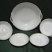 Noritake Certified Mark Bowl and Four Serving Dishes