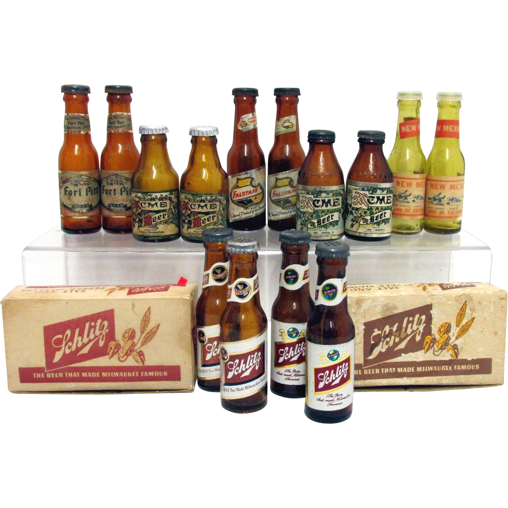 Miniature Beer Bottle Salt and Pepper Sets $16 each Five Set Left