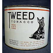 Tweed Tobacco Tin featuring Scottie Dog