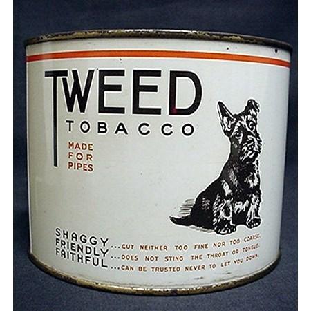Tweed Tobacco Tin featuring Scottie Dog
