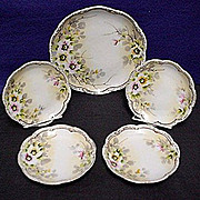 Cake Set Nippon Porcelain Service for 4