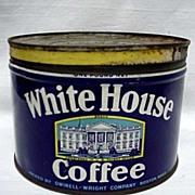 Advertising Coffee Tin White House Coffee