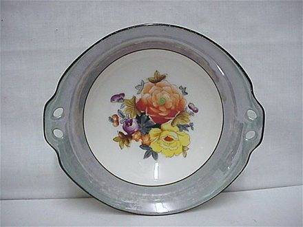 Grey Lusterware Noritake Certified Mark Serving Dish or Bowl