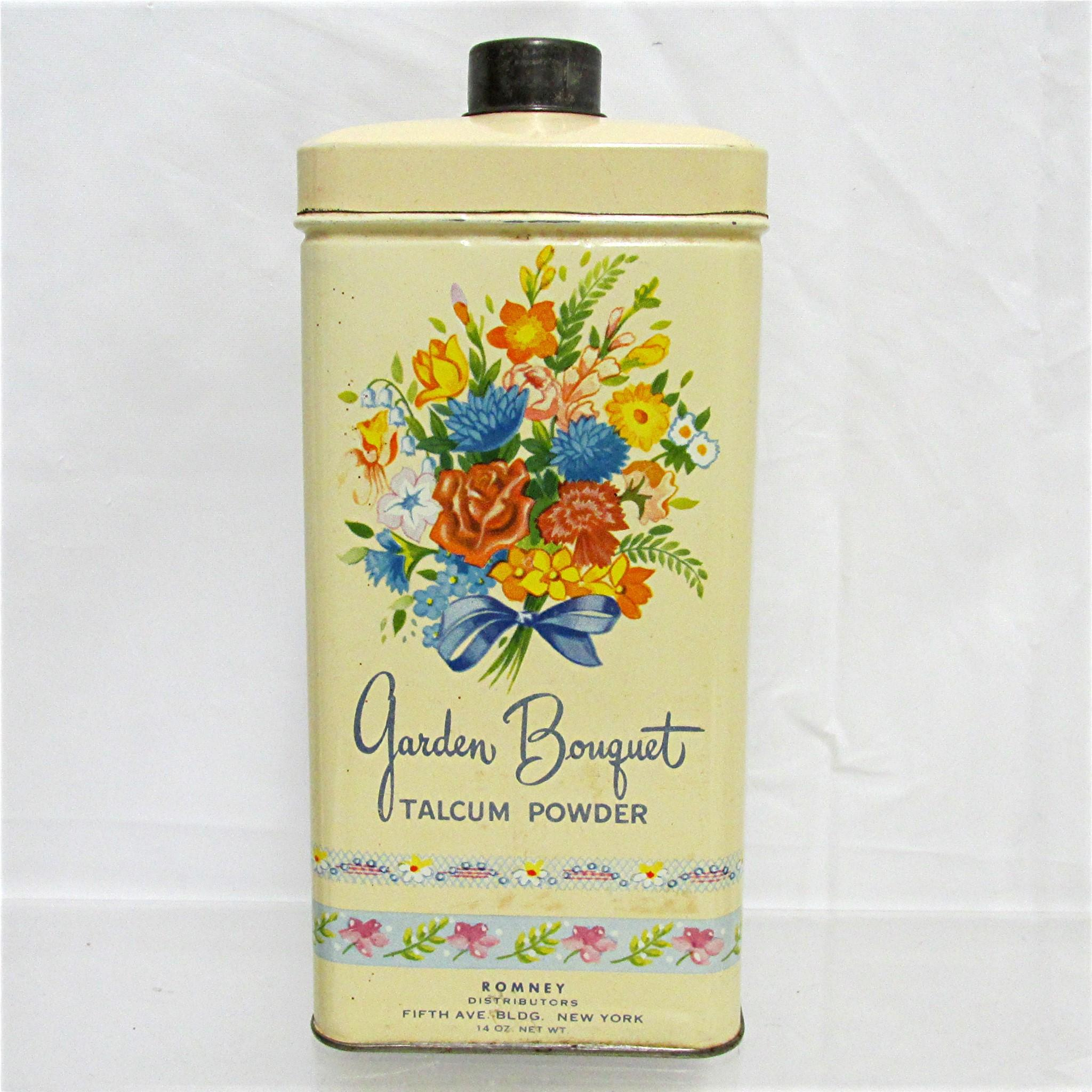 Advertising Garden Bouquet Talcum Powder Talc Tin