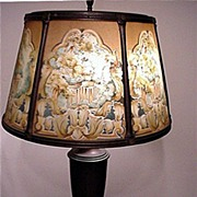 Table Lamp Antique with Reverse Painted Shade