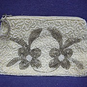 Beaded Hand Bag or Purse  Art Nouveau Design