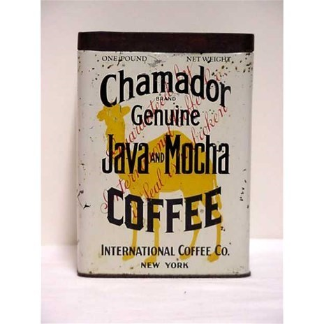 Advertising Coffee Tin Chamador Java & Mocha Coffee One Pound