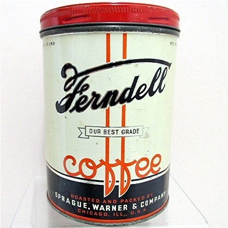 Ferndell Advertising Coffee Tin