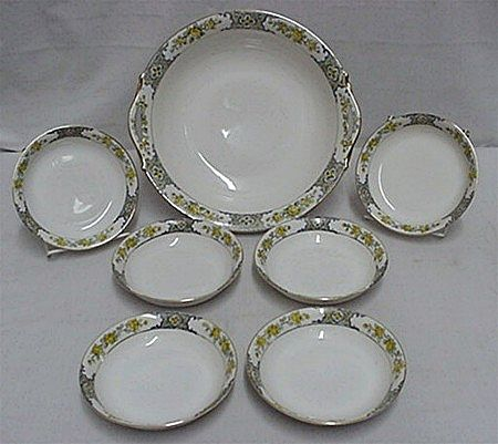 Nippon Porcelain Service for Six Cereal, Fruit or Dessert Set