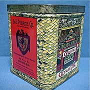 Advertising Tea Tin S S Pierce Boston