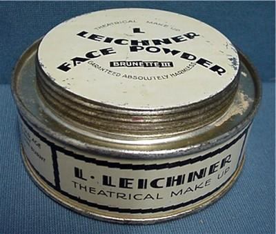 Theatrical Face Powder Leichner Advertising Tin