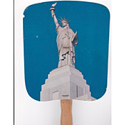Statue of Liberty Fan Advertising Liberty National Insurance Co.