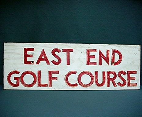 Advertising Wood Golf Sign