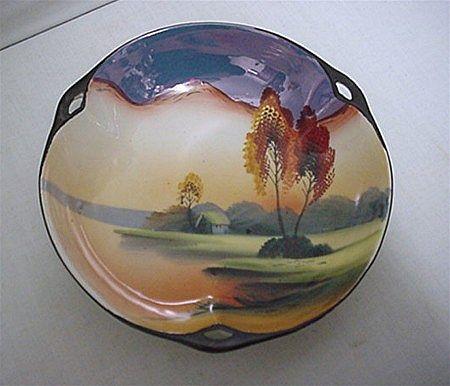 SOLD   Lusterware Scenic Dish by Chikaramachi