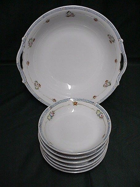 Salad Set Nippon Porcelain Service for Six