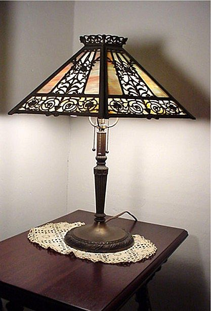 Table Lamp Filigree Overlay Panel Lamp