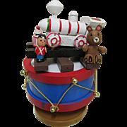 Choo Choo Train Music Box  Engine on top of a Drum