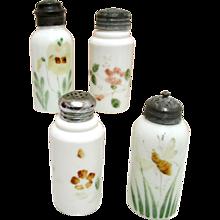 Shakers Four American Opalware Glass Circa 1890