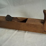 Horned wooden Smoother Plane with nice patina-Woodworking Tool