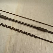 Three Long Shank Bits including two Auger Wood Boring bits-Woodworking Tools