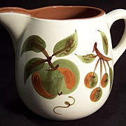 Stangl Handpainted Pottery Pitcher--Orchard Song pattern