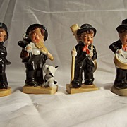 Four Musicial Band Figurines