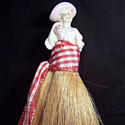 Vintage Half Doll Whisk Broom