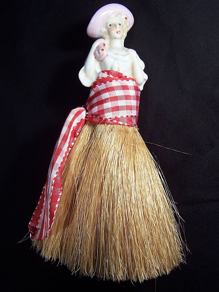 Vintage Half Doll Whisk Broom