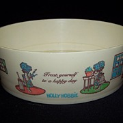 Holly Hobbie Celluloid Child's cereal bowl