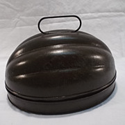Vintage Tin Melon Mold for Pudding or Ice Cream