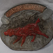 Title: Cape Horn Ashtray with Irish Setter Dog