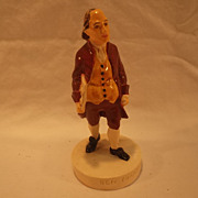 "Vintage Sebastian miniature figurine titled  ""Ben Franklin"""