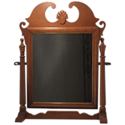 Vintage American Shaving/Grooming Cherry Dresser Top Mirror