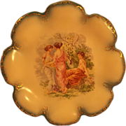 Empire China Austrian Plate - Gold Trimmed - Maidens