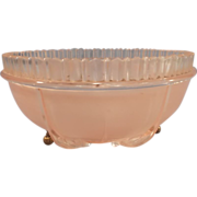 Vintage Pink Glass Ceiling Light Shade - 3 chain