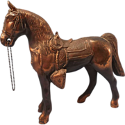 Cast Metal Riding Horse Statue -- 1930's era - Red Tag Sale Item